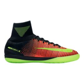 Nike Men's Mercurial Proximo II Indoor Soccer Shoes - Orange/Black/Volt Green