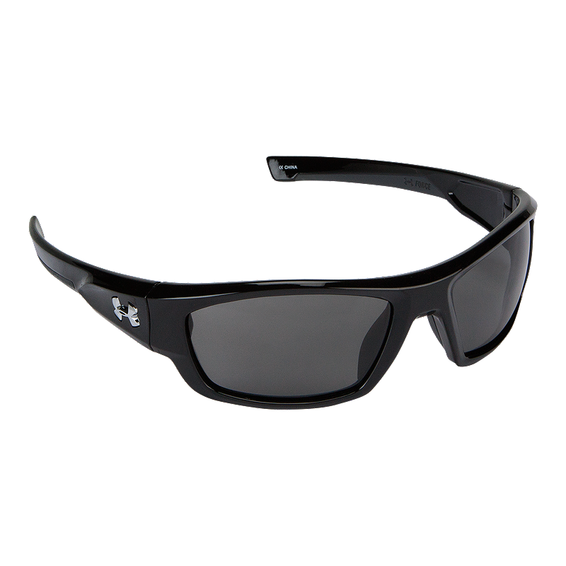 c3226c5756b Under Armour Force Sunglasses- Shiny Black with Grey Lenses