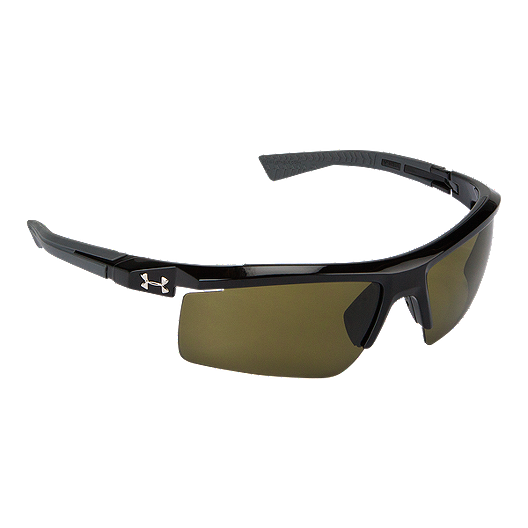 51577bbff8 Under Armour Core 2.0 Sunglasses- Shiny Black with game Day Lenses ...