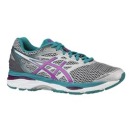 ASICS Women's Gel Cumulus 18 Running Shoes - Silver/Pink/Lapis
