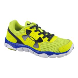 Under Armour Kids' Engage BL Preschool Running Shoes - Yellow/Blue/Navy