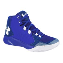 Under Armour Kids' Touch Fade Grade School Basketball Shoes - Blue/White
