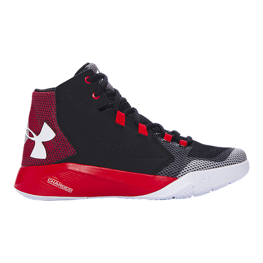 01182f3325b Under Armour Kids  Torch Fade Grade School Basketball Shoes -  Black Red White