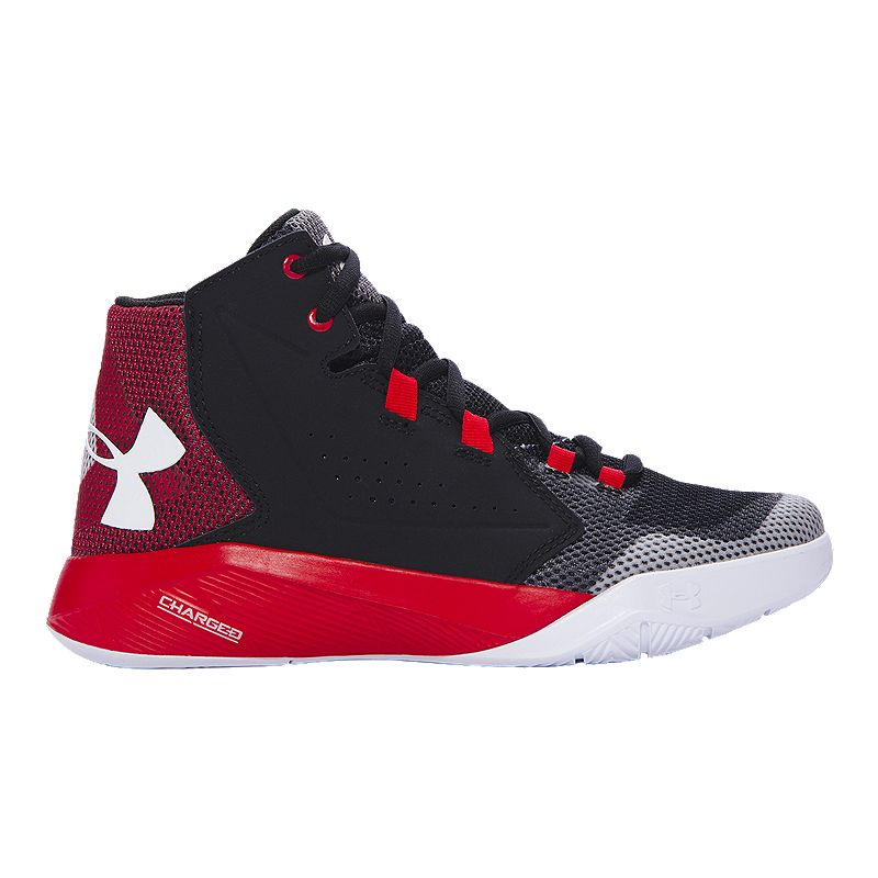 Under Armour Kids Torch Fade Grade School Shoes Black Red