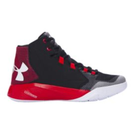 Under Armour Kids' Torch Fade Grade School Basketball Shoes - Black/Red/White