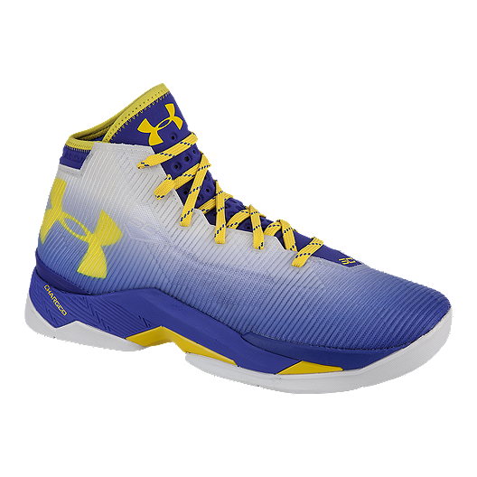 20a05fc17a73c Under Armour Kids' Curry 2.5 Grade School Basketball Shoes - White ...