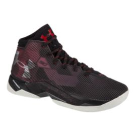 Under Armour Kids' Curry 2.5 Grade School Basketball Shoes - Black/Red