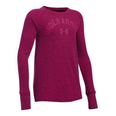 Under Armour Girls' Waffle Long Sleeve Shirt