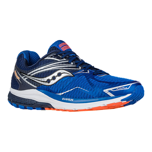 d6d54f19127 Saucony Men s Everun Ride 9 Running Shoes - Blue Orange Silver ...