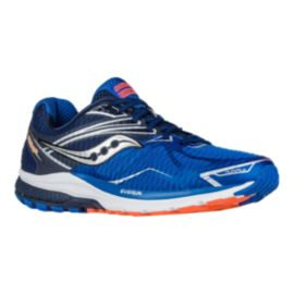 Saucony Men's Everun Ride 9 Running Shoes - Blue/Orange/Silver