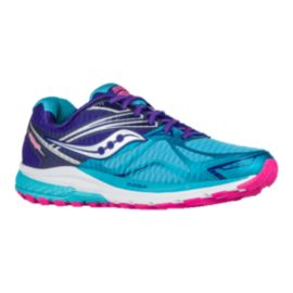 Saucony Women's Everun Ride 9 Running Shoes - Teal Blue/Purple/Pink