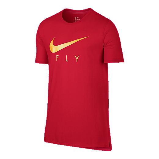 cbc0599668 Nike Fly Droptail Men's Short Sleeve Tee - 657 UNIVERSITY RED/UNIVERSITY RED