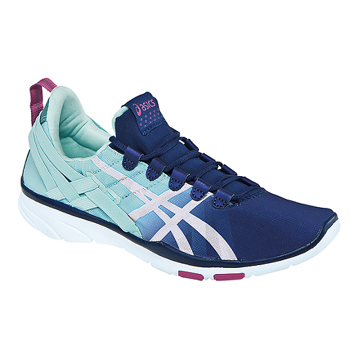 fd56c487 ASICS Women's Gel Fit Sana Training Shoes - Blue/White ...