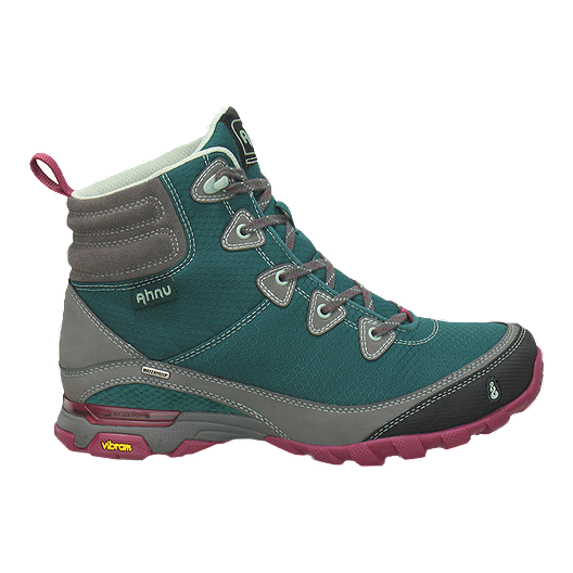 700b964cf85 Ahnu Women's SugarPine Waterproof Hiking Boots - Green/Grey | Sport Chek