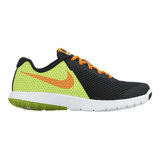 5ba0d8f25126 Nike Kids  Flex Experience 5 Grade School Wide Running Shoes -  Black Orange Volt