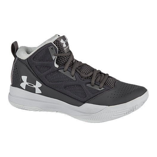 d056dcfef49 Under Armour Women s Jet Mid Basketball Shoes - Dark Grey Grey ...