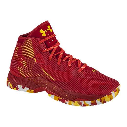 new york 0e3bd 92c01 Under Armour Men's Curry 2.5 Basketball Shoes - Red/Yellow ...