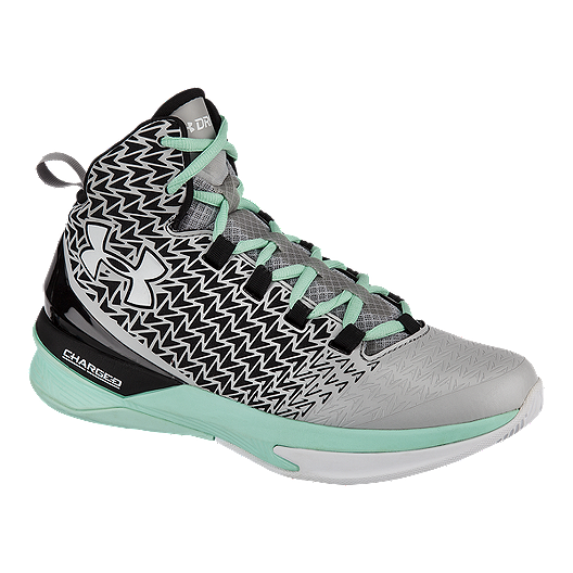 100% authentic 6c6dd a88cb Under Armour Women s ClutchFit Drive III Basketball Shoes -  Silver Black Teal   Sport Chek