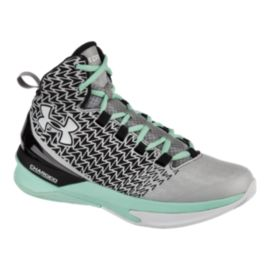 Under Armour Women's ClutchFit Drive III Basketball Shoes - Silver/Black/Teal