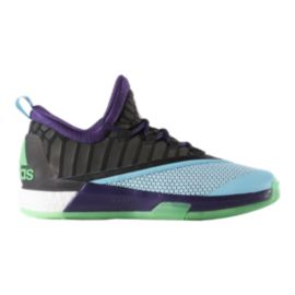 "adidas Men's CrazyLight Boost 2.5 Low ""All-Star"" Basketball Shoes - Light Blue/Black/Purple"