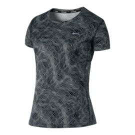 Nike Run Miler All-Over Print Women's Short Sleeve Top