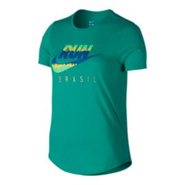 Nike Run Brazil Women's Short Sleeve Tee