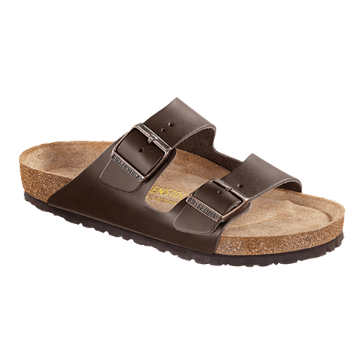 Birkenstock Mens Arizona Soft Leather Sandals Brown Sport Chek