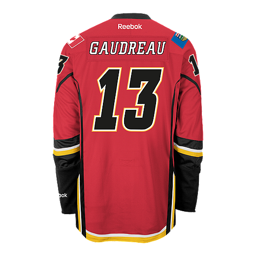 3bbb2a00c Calgary Flames Johnny Gaudreau Premier Home Hockey Jersey | Sport Chek