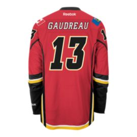 Calgary Flames Johnny Gaudreau Premier Home Hockey Jersey