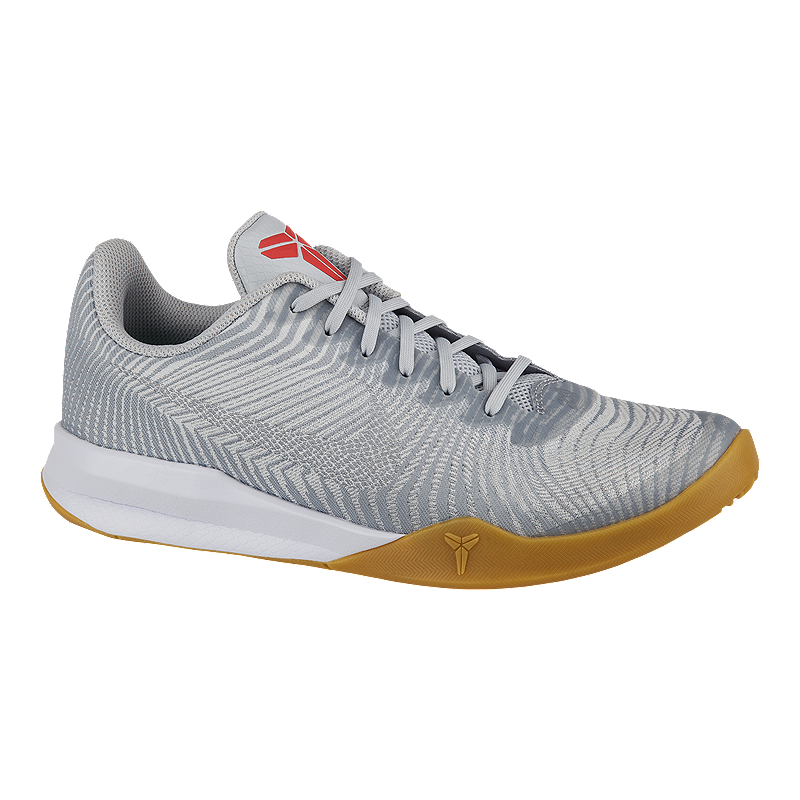 huge discount 2b6ea 47a81 Nike Men s KB Mentality II Basketball Shoes - White Grey Gum   Sport Chek