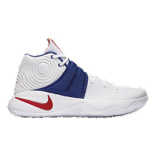 f716cdb874e4 Nike Men s Kyrie 2 Basketball Shoes - White Red Blue