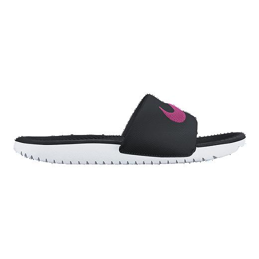 fbd95693e Nike Women's Kawa Slide Sandals - Black/Pink/White | Sport Chek