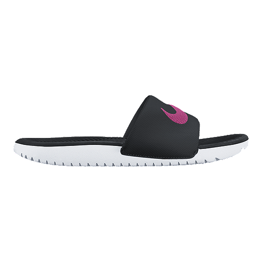 b26bfd9d5a3b5 Nike Women s Kawa Slide Sandals - Black Pink White