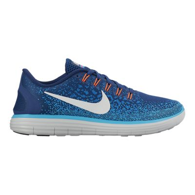 Nike Women's Free Run Distance Running Shoes - Blue/White/Orange