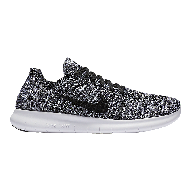 898fbab8853 Nike Women s Free RN FlyKnit Running Shoes - White Black