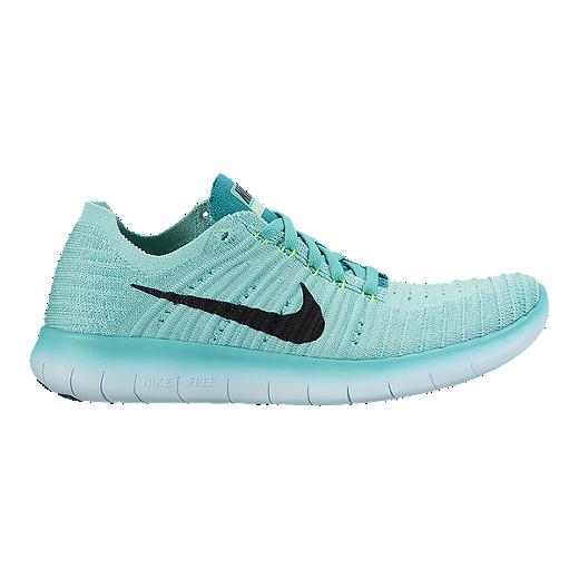 b0cc90e44 Nike Women's Free RN FlyKnit Running Shoes - Turquoise Blue/Black | Sport  Chek