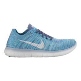 Nike Women's Free RN FlyKnit Running Shoes - Blue/White