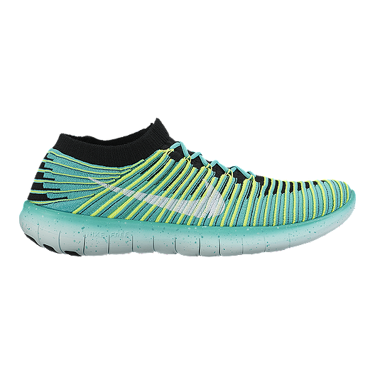 8fbb8a12b900 Nike Women s Free RN Motion FlyKnit Running Shoes - Teal Green Volt  Green Black