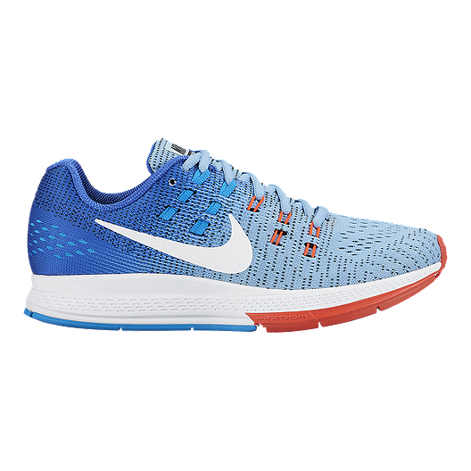 64fafa2bd97 Nike Women s Air Zoom Structure 19 Running Shoes - Blue White Orange ...