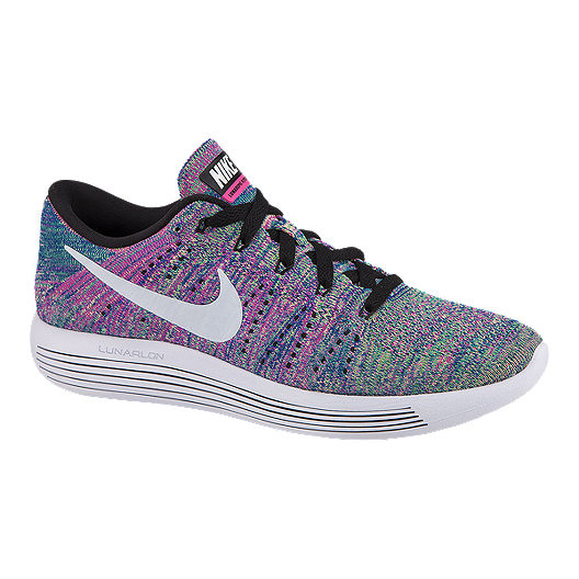 a30bca4219fd Nike Women s LunarEpic Low FlyKnit Running Shoes - Pink Blue Jade ...