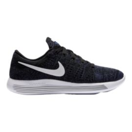 Nike Women's LunarEpic Low FlyKnit Running Shoes - Black/Purple/White