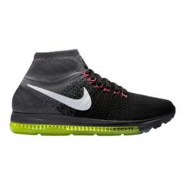 Nike Women's Zoom All Out FlyKnit Running Shoes - Black/Dark Grey/Volt Green