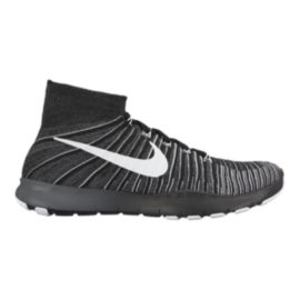 Nike Men's Free Force FlyKnit Training Shoes - Black/White