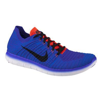 Nike Men's Free RN FlyKnit Running Shoes - Blue/Purple/Orange