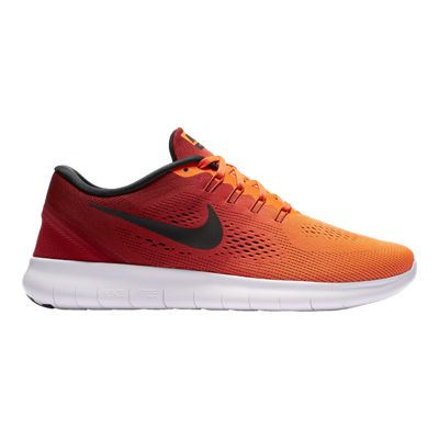 Nike Men's Free RN 2016 Running Shoes - Red/Orange