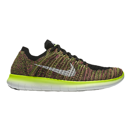 low priced f6d81 04624 Nike Men s Free RN FlyKnit Unlimited Running Shoes - Volt Pink Pattern    Sport Chek