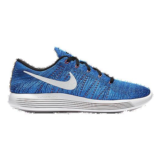 3d68e89c781 Nike Men s LunarEpic Low FlyKnit Running Shoes - Blue White