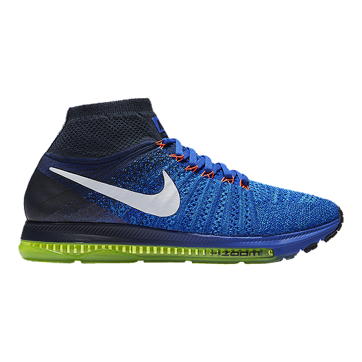 4a41cb75c8f04 Nike Men s Zoom All Out FlyKnit Running Shoes - Blue White