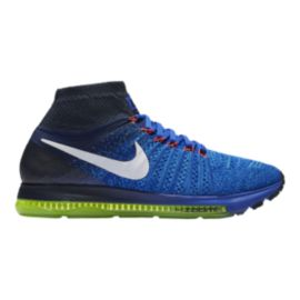 Nike Men's Zoom All Out FlyKnit Running Shoes - Blue/White