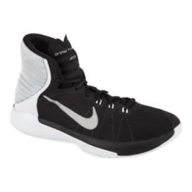 Nike Men's Prime Hype DF 2016 Basketball Shoes - Black/Silver